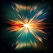 abstract space background with stars - stock illustration
