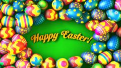 Easter background - stock footage