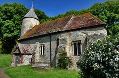Stock Photo of St Peters Church, Southease, East Sussex