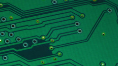 Green integrated circuit. Stock Footage