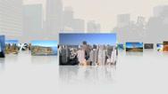 CG montage USA tourist famous destination panoramic Stock Footage
