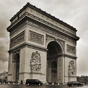 Arc de triomphe in paris, france Stock Photos