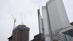 Bank and Construction Stock Footage