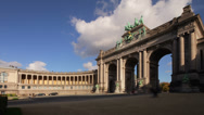 Stock Video Footage of Brussels Triumphal Arch