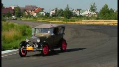 Vintage Retro cars competition ヨ Peking to Paris rally, click for HD Stock Footage