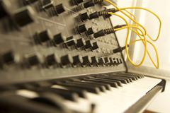 Stock Photo of Vintage Synth 1