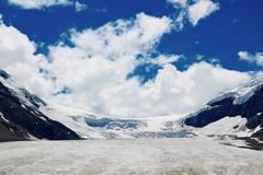 At the Foot of Athabasca Glacier Stock Photos
