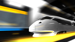 High speed rail, transit, transportation, system, train. - stock footage