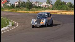 Vintage cars pursuit. Bentley R Type Citroen 11B, click for HD Stock Footage