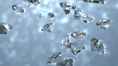Diamond gemstones, precious, resource, mineral, natural. - stock footage