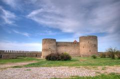 Medieval akkerman fortress near odessa in ukraine Stock Photos