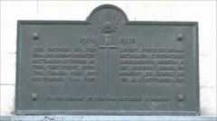 The Last Shot (of WWI) memorial plaque, Mons, Belgium Stock Footage