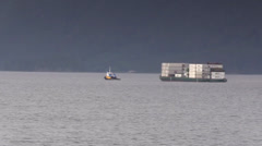 Sea going tugboat Stock Footage