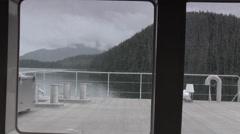 Rain drops on window Stock Footage