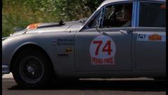 Full HD shot of vintage car Jaguar MkII., click for HD - stock footage