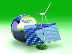 alternative energy - europe.. - stock illustration