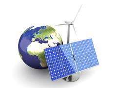 alternative energy - europe - stock illustration