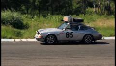 Autosport fabulous car Porsche 911 ヨ winner of various rally, click for HD Stock Footage