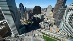 Boston from The Federal Reserve Building - stock footage