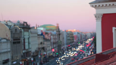 Nevsky prospekt in the evening Stock Footage