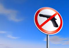 No guns sign against the blue sky Stock Illustration