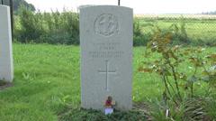 The Saint Symphorien Military Cemetery, Mons, Belgium. Stock Footage