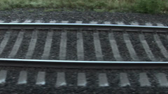 Railway trip  1 Stock Footage