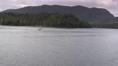 Fishing boat, Inside Passage ,Alaska Stock Footage