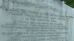 The First and Last Battles of World War One memorial, Mons, Belgium Stock Footage
