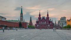State Historical Museum in Moscow Stock Footage