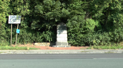 The First Shot memorial, Mons, Belgium Stock Footage