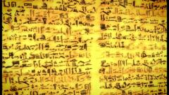 Unknown Ancient script, old scroll with African letters, click for HD - stock footage
