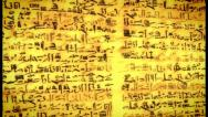 Stock Video Footage of Unknown Ancient script, old scroll with African letters, click for HD
