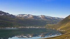 Iceland village seydisfjordur Stock Footage