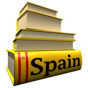 Guidebooks and dictionaries of Spain - stock illustration