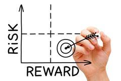 Risk reward graph Stock Photos