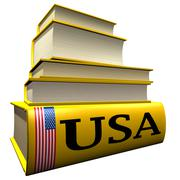 Guidebooks and dictionaries of USA - stock illustration