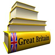 Guidebooks and dictionaries of Great Britain - stock illustration
