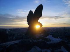 the eagle. pyatigorsk emblem. - stock photo