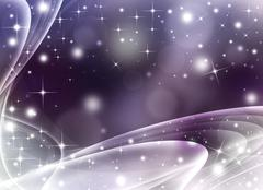 Glittery festive abstract background with stars - stock illustration