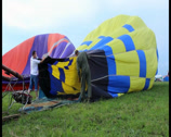 Stock Video Footage of Hot air balloon blowing before taking off, click for HD