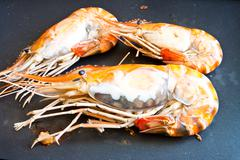 Stock Photo of grilled prawns