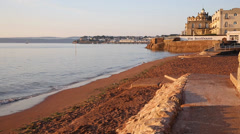 Paignton beach Torbay Devon England near tourist destinations of Stock Footage