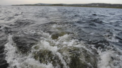 wave speed boat - stock footage