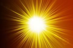 Hot sunrays background Stock Illustration