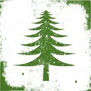 symbol tree grunge - stock photo