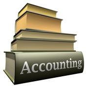 Education books - Accounting - stock illustration
