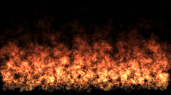Big wide fire, flame - alpha channel, no background Stock Footage