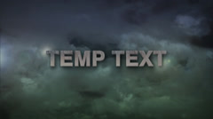 STORM CLOUD 3D TEXT Stock After Effects