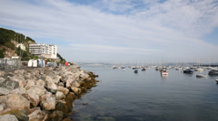 Brixham harbour and marina Devon England Stock Footage